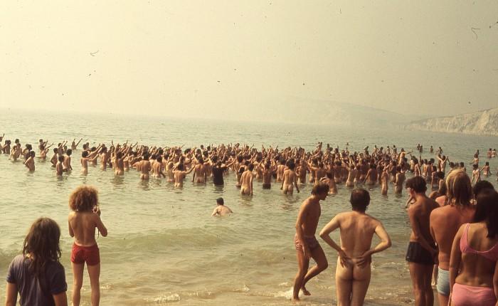 Isle of Wight 1970 : dimanche 30 août midi sur laplage