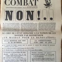 Combat Nº 7421 Samedi 25 et Dimanche 26 Mai 1968